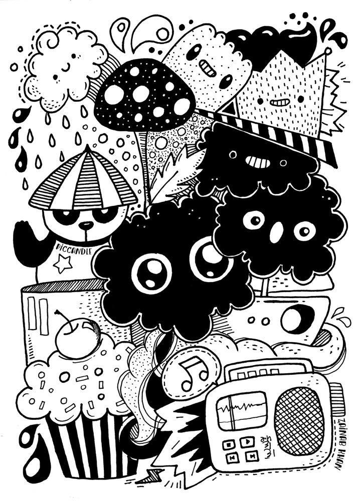 Черно-белые картинки для диайвай