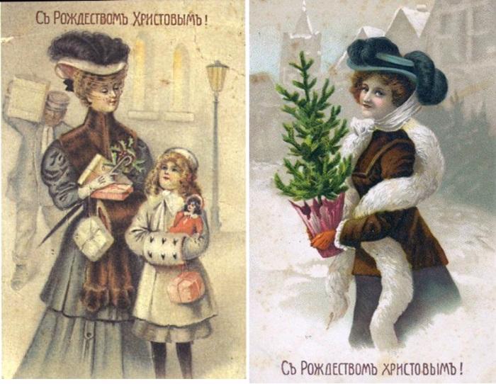 английские открытки начала 20 века
