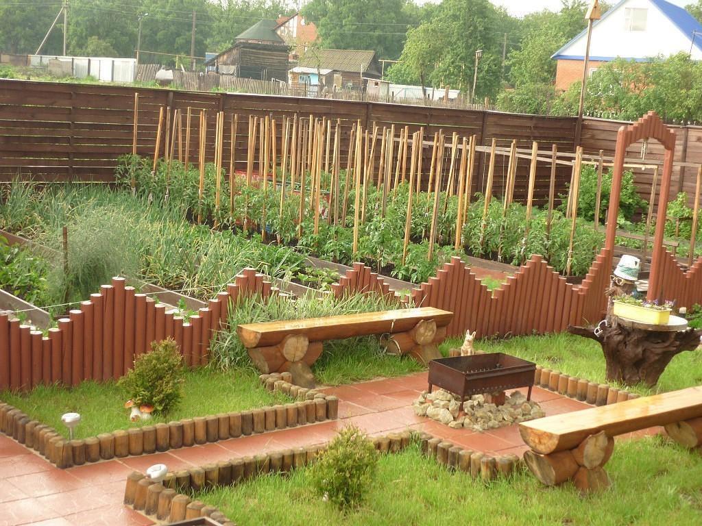 Обустройство сада и огорода своими руками фото
