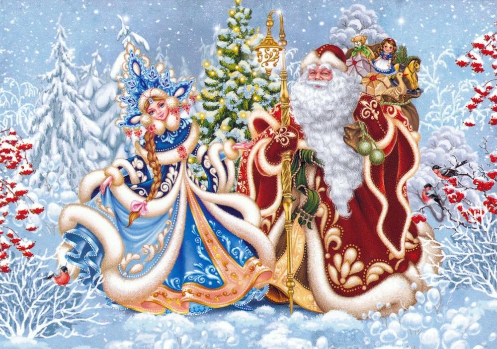 новогодние картинки с русским дедом морозом ищете