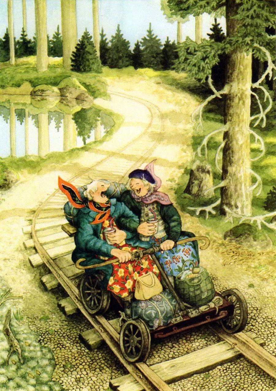 вид картинки финской художницы инге лоок обои