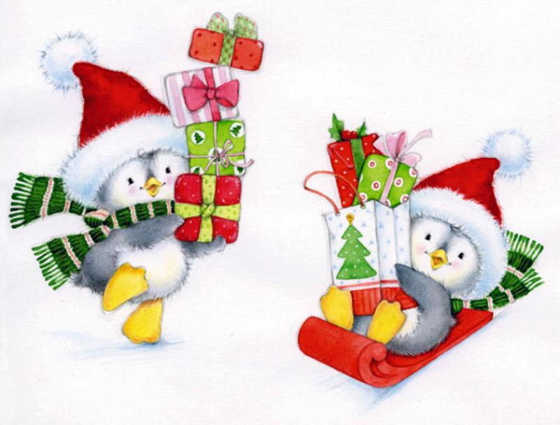Маленькие новогодние открытки картинки, распечатать