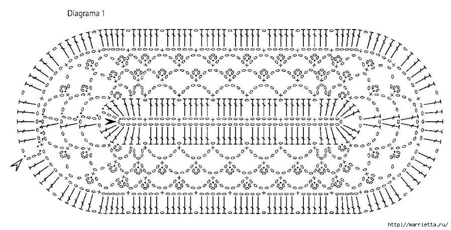 Овальная салфетка крючком схема для начинающих фото 624