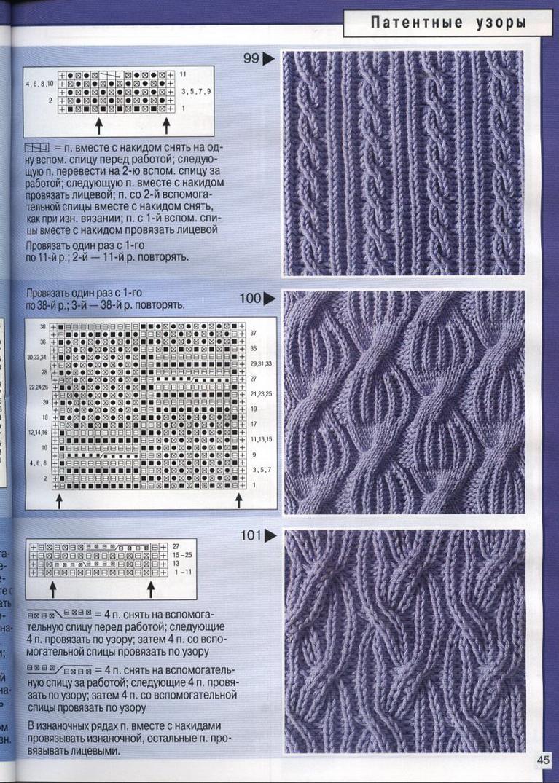 Скачать узоры для вязания спицами со схемами