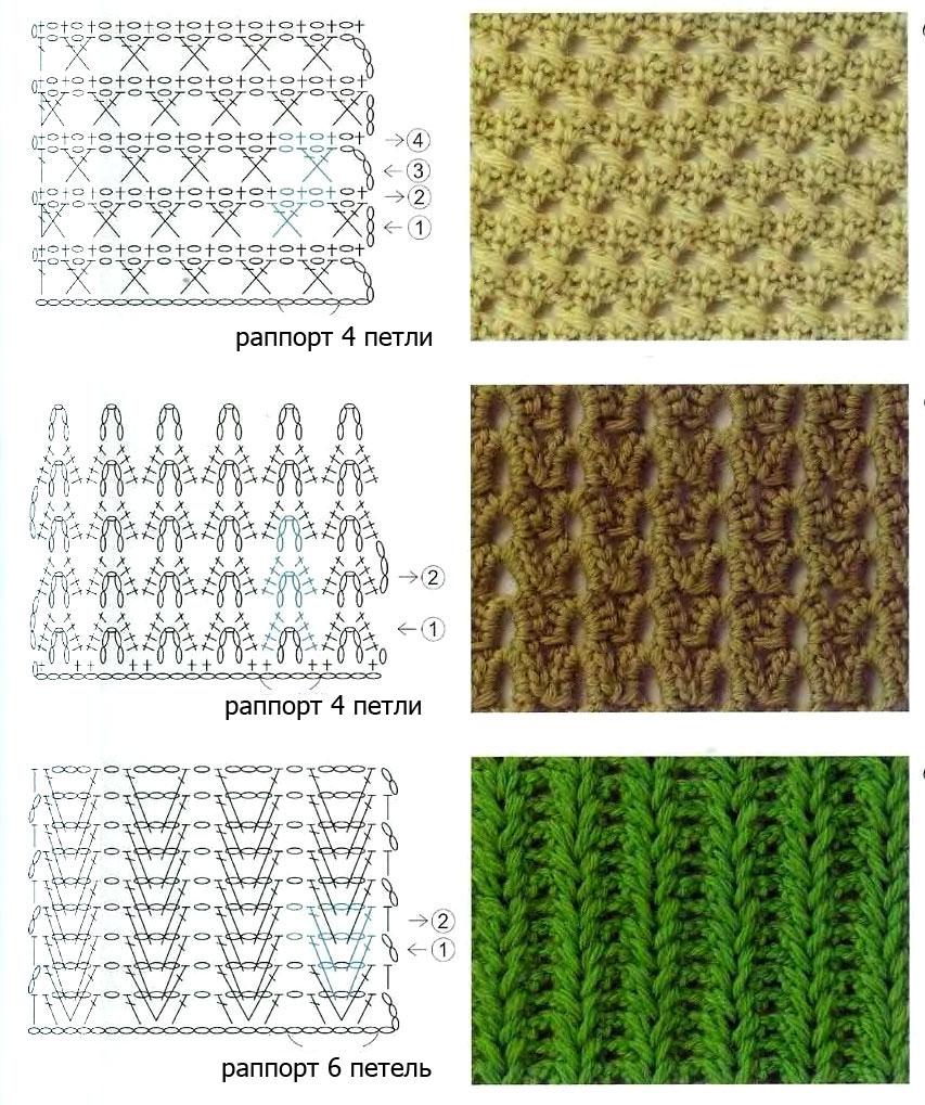 узоры для вязания крючком узоры и схемы узоры крючком постила