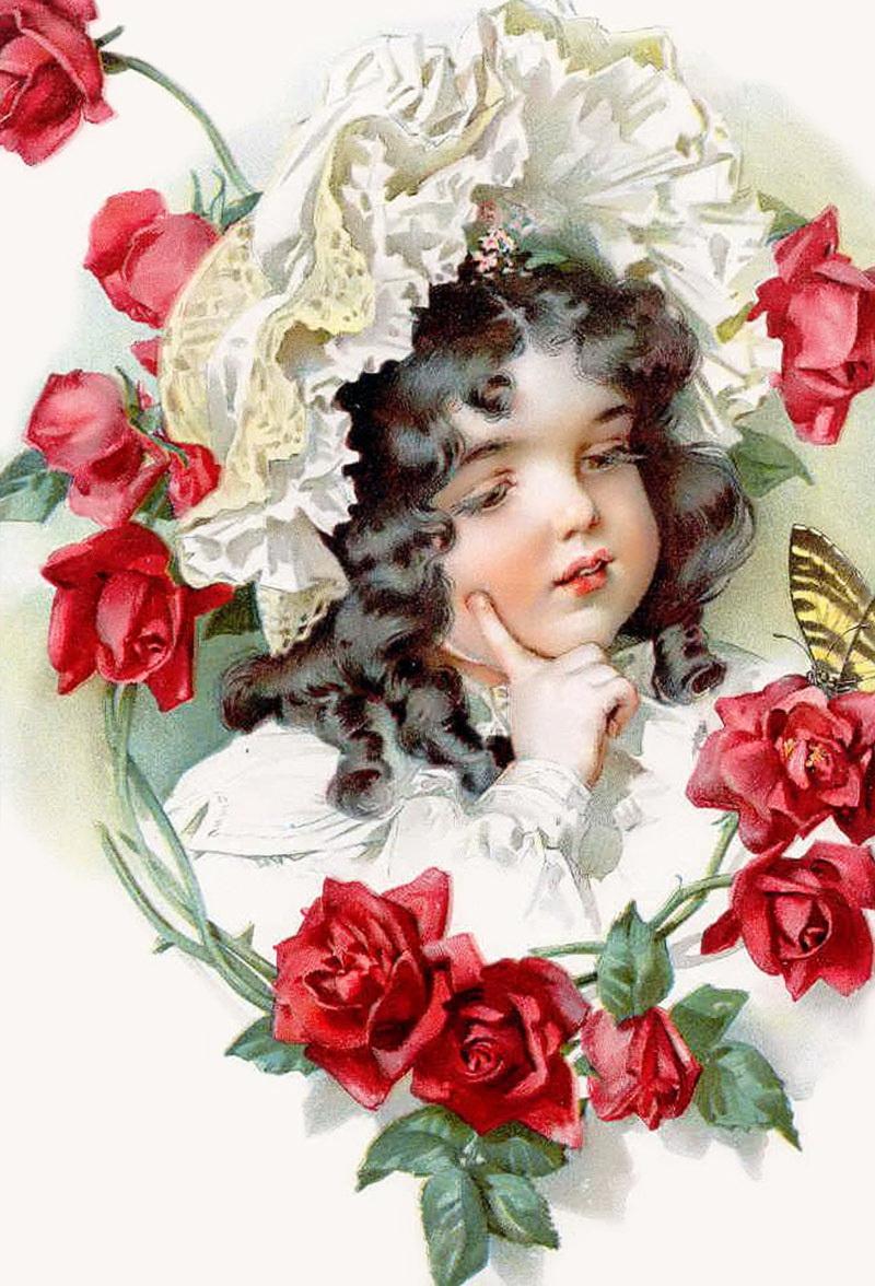 Красивые ретро картинки цветов