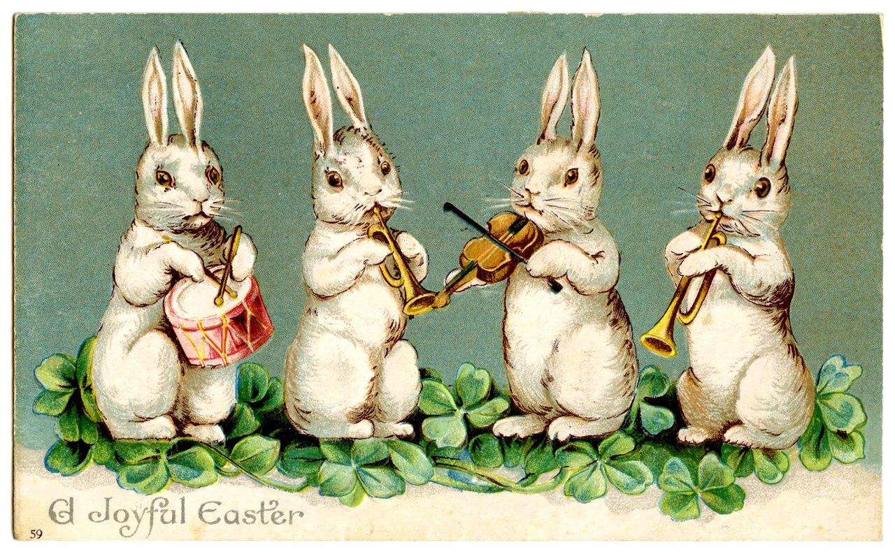 Зайцы в открытках
