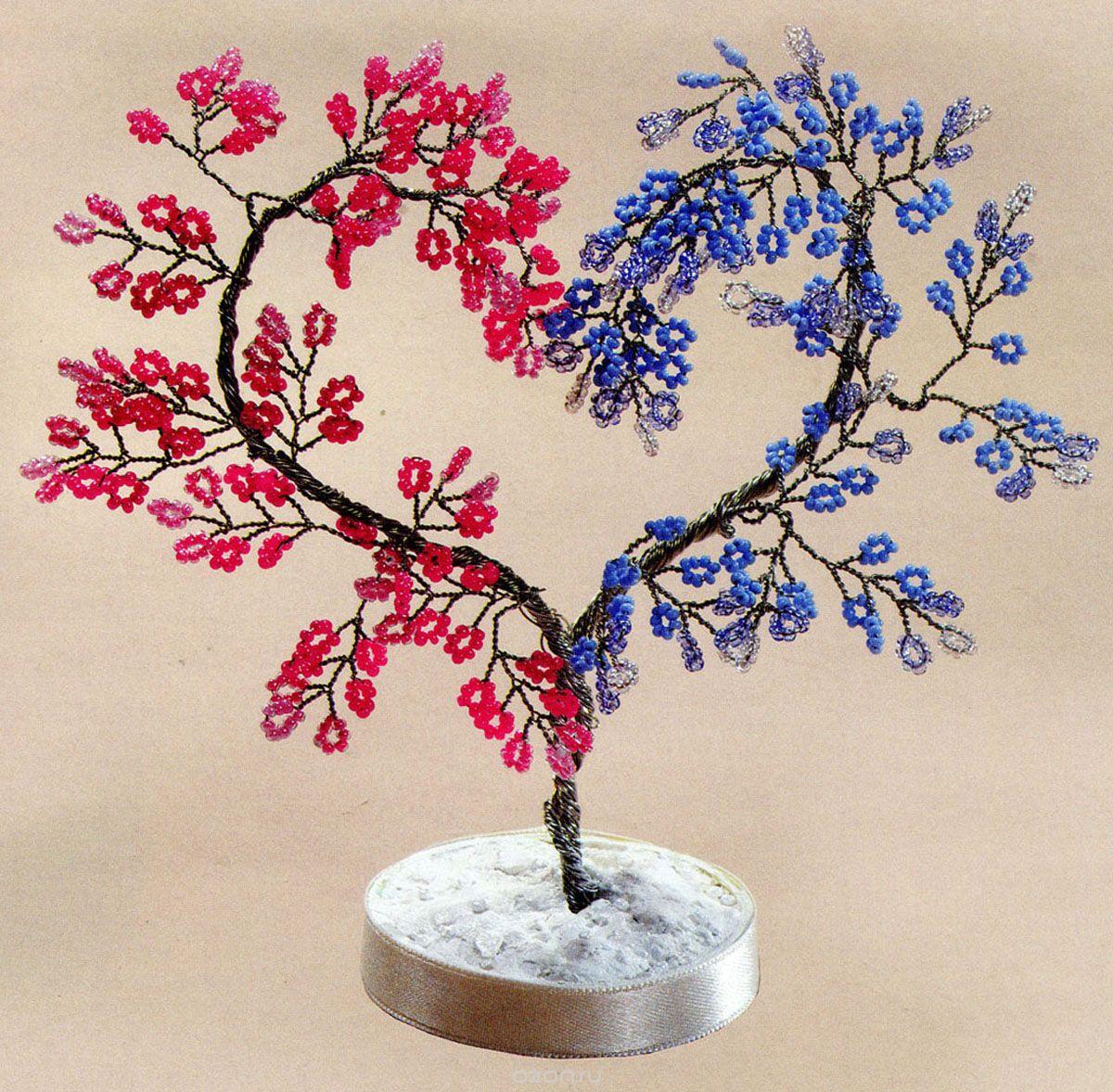 Картинки плетение деревьев из бисера