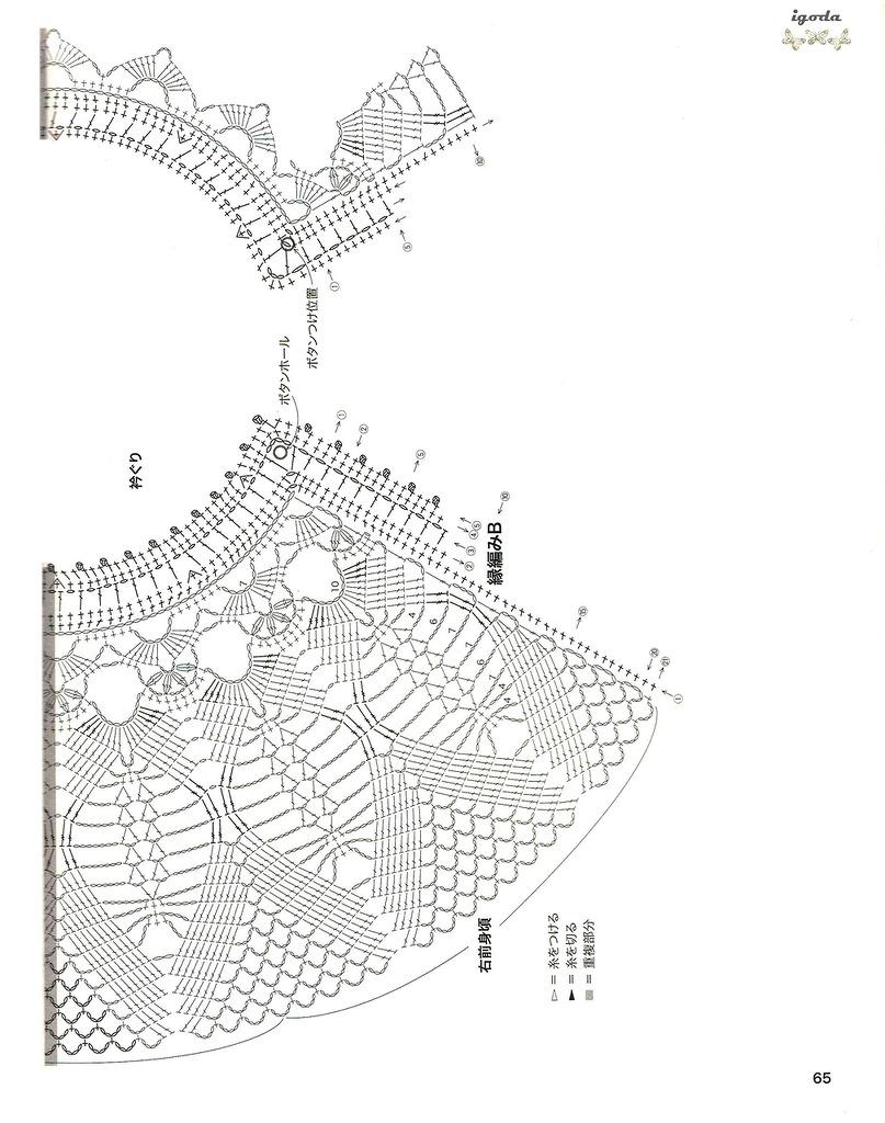 Модели с кружевной кокеткой крючком схемы фото