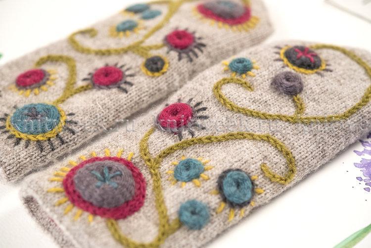 вышивка по вязаному полотну мастер классы вышивка постила