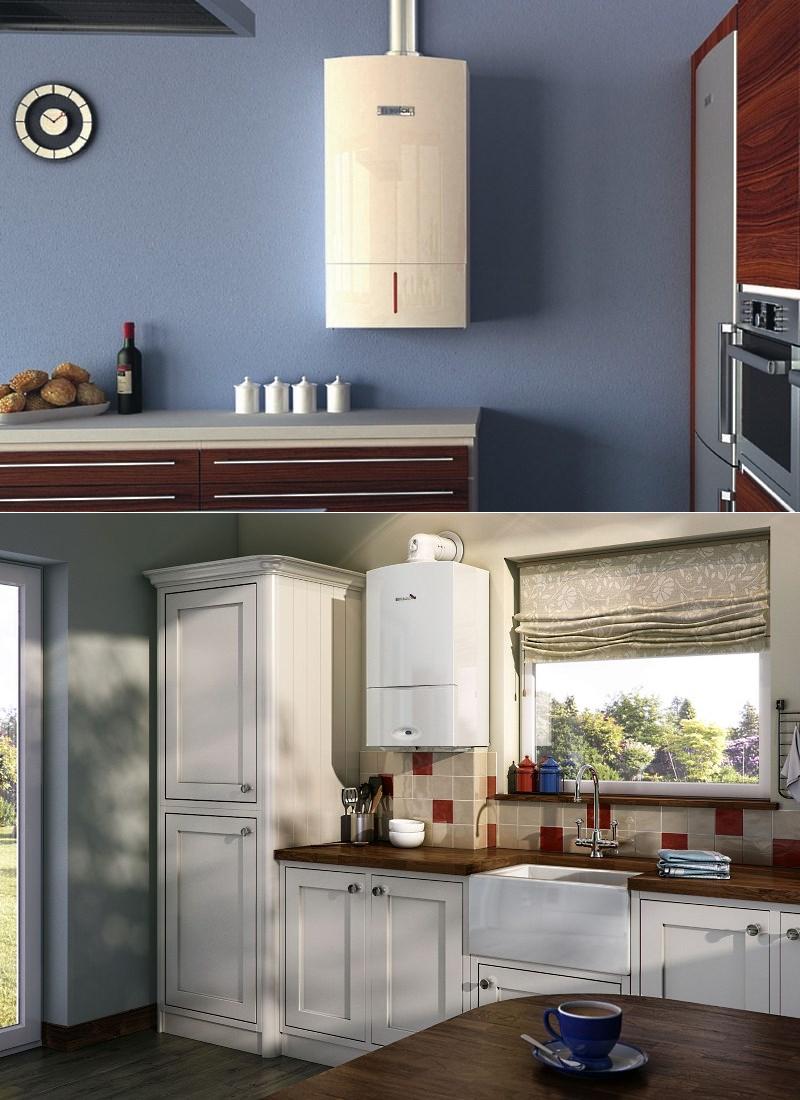 Дизайн кухни с настенным газовым котлом фото