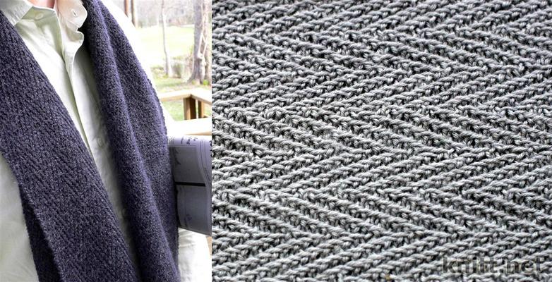 мужской шарф имитация тканной фактуры вязание шарфы шапки