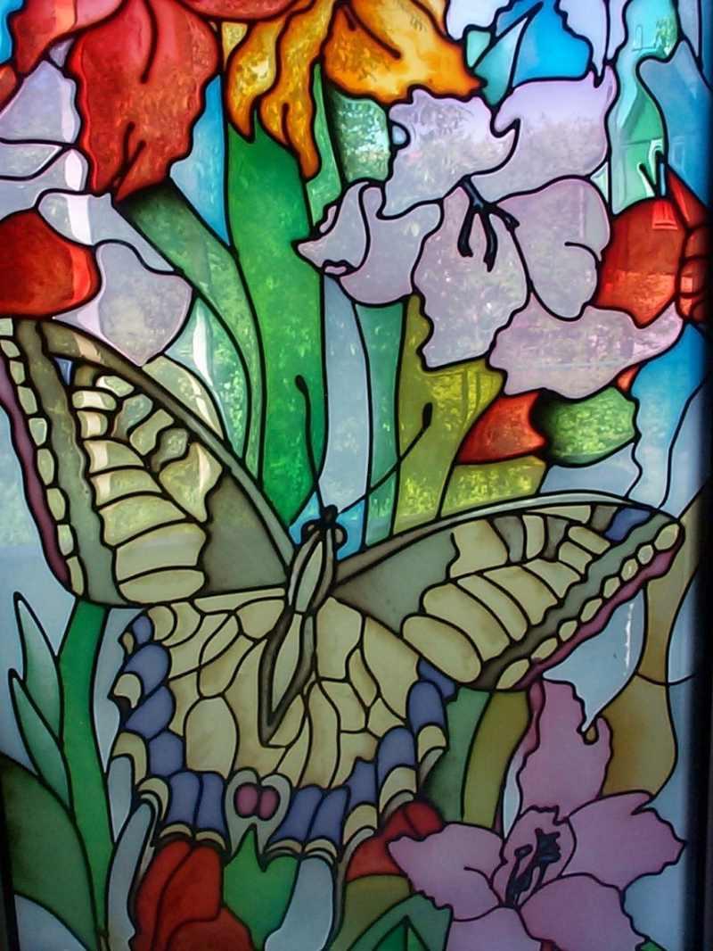 Картинки витражей с цветами