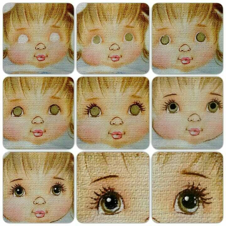Нарисовать глаза для куклы картинки