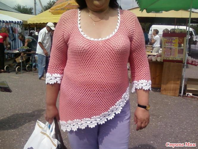 вязанные кофты для полных женщин фото