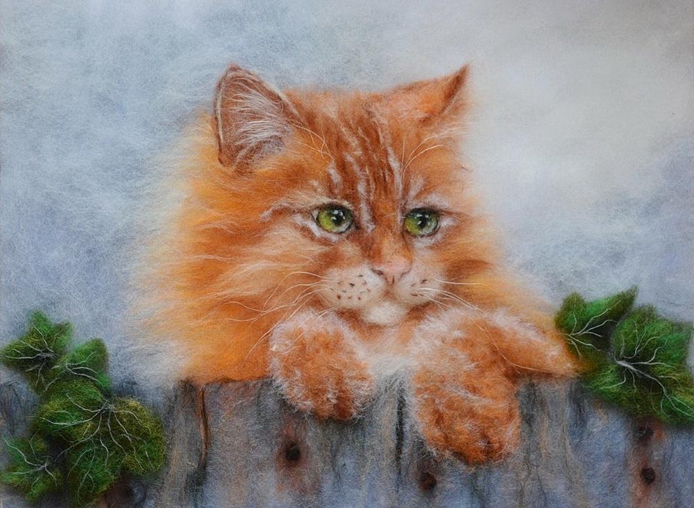 того, стал картины из шерсти котики фото покупал