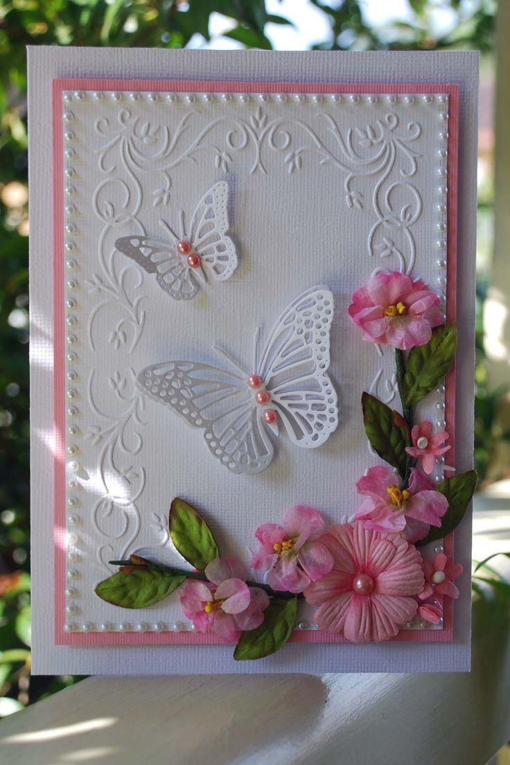 Открытки скрап с бабочками, открытку