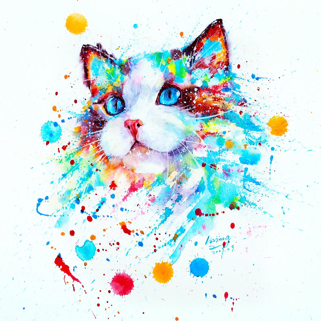этом картинка разноцветные коты стоит отметить, что