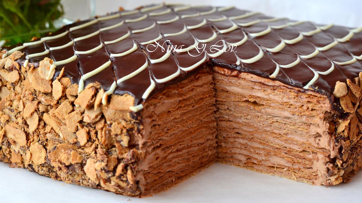 торт наполеон шоколадный рецепт с фото льва короне имеет