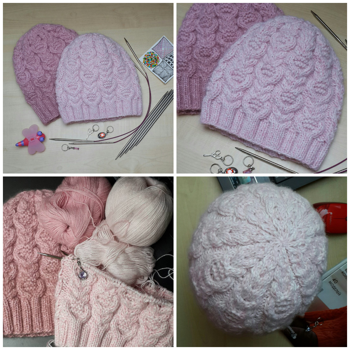 Страна мама вязание спицами шапок 106