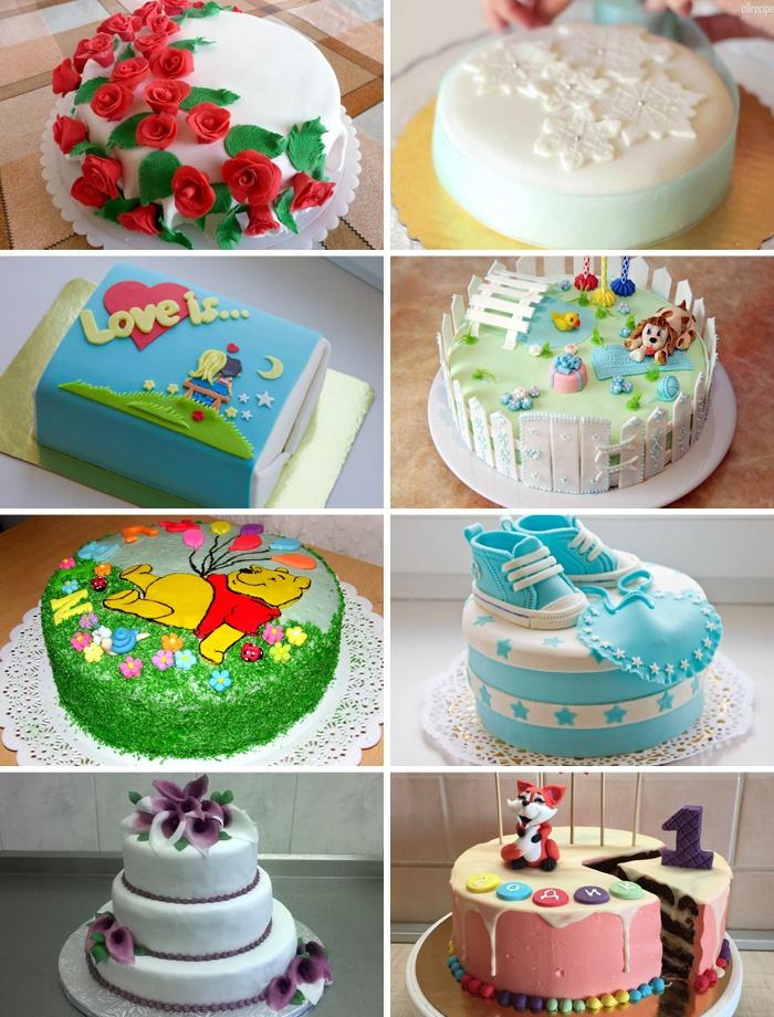 Мастика для торта в домашних условиях фото