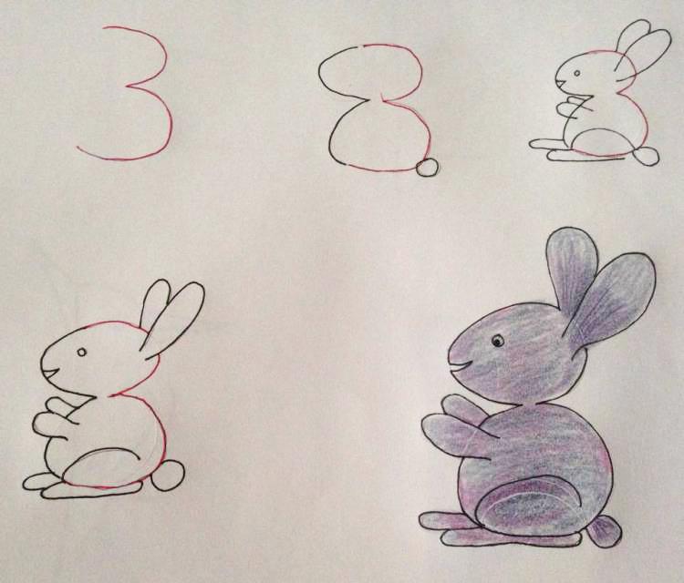 рисунки животных с цифрами