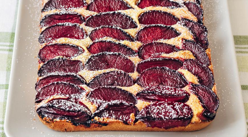 рецепт пирога со сливами.