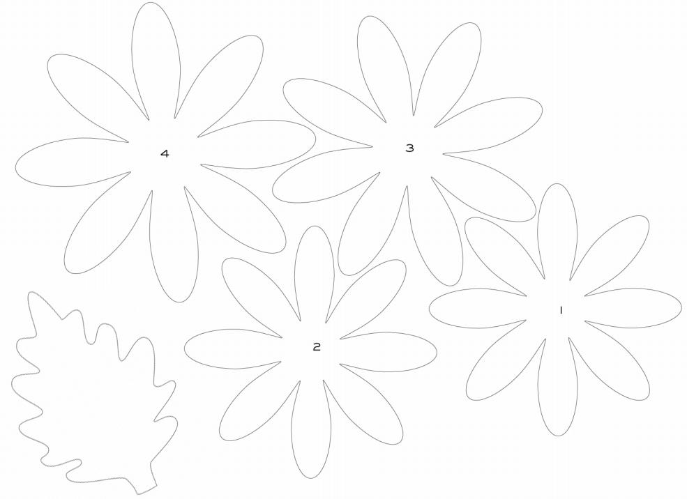 Объемные цветы из бумаги шаблоны, девушка