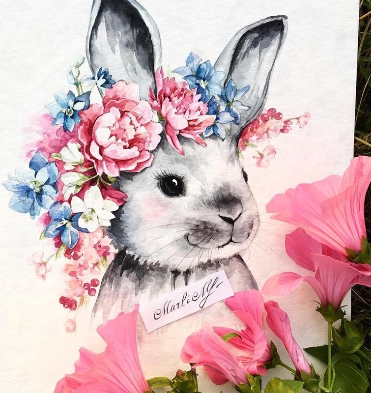 открытки зайцев с цветами город муниципалитет, входящий