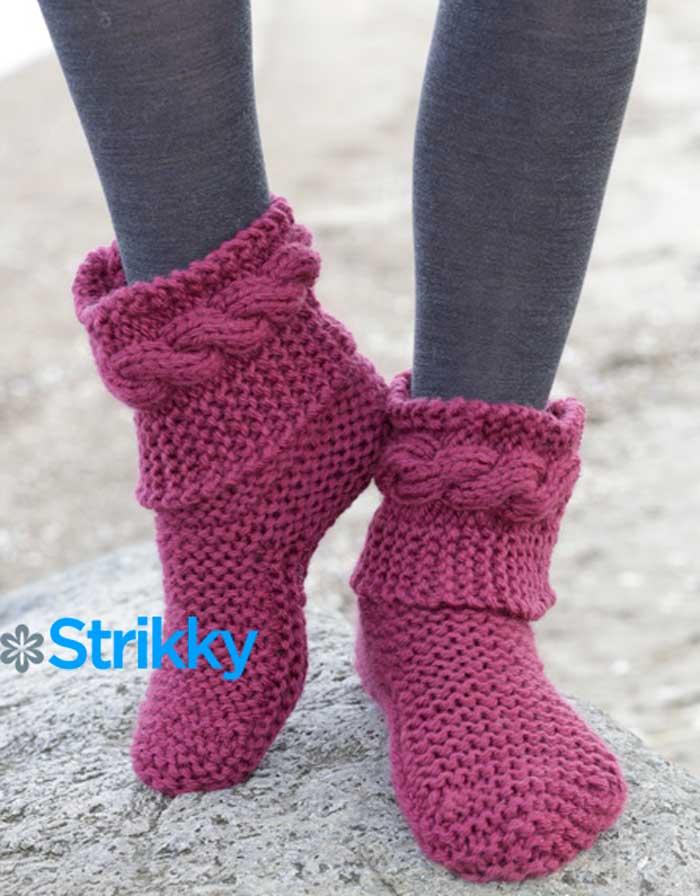 носки сапожки для женщин вязаные спицами 1 следочки носочки