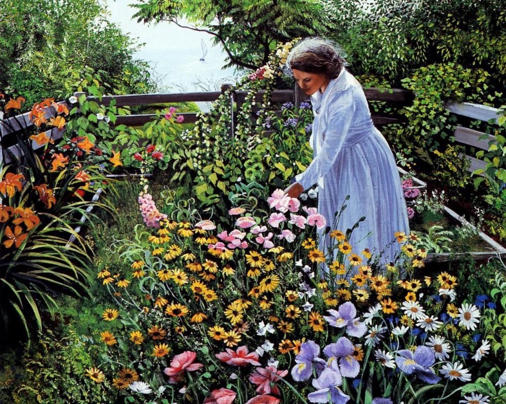 Цветы на даче стихи