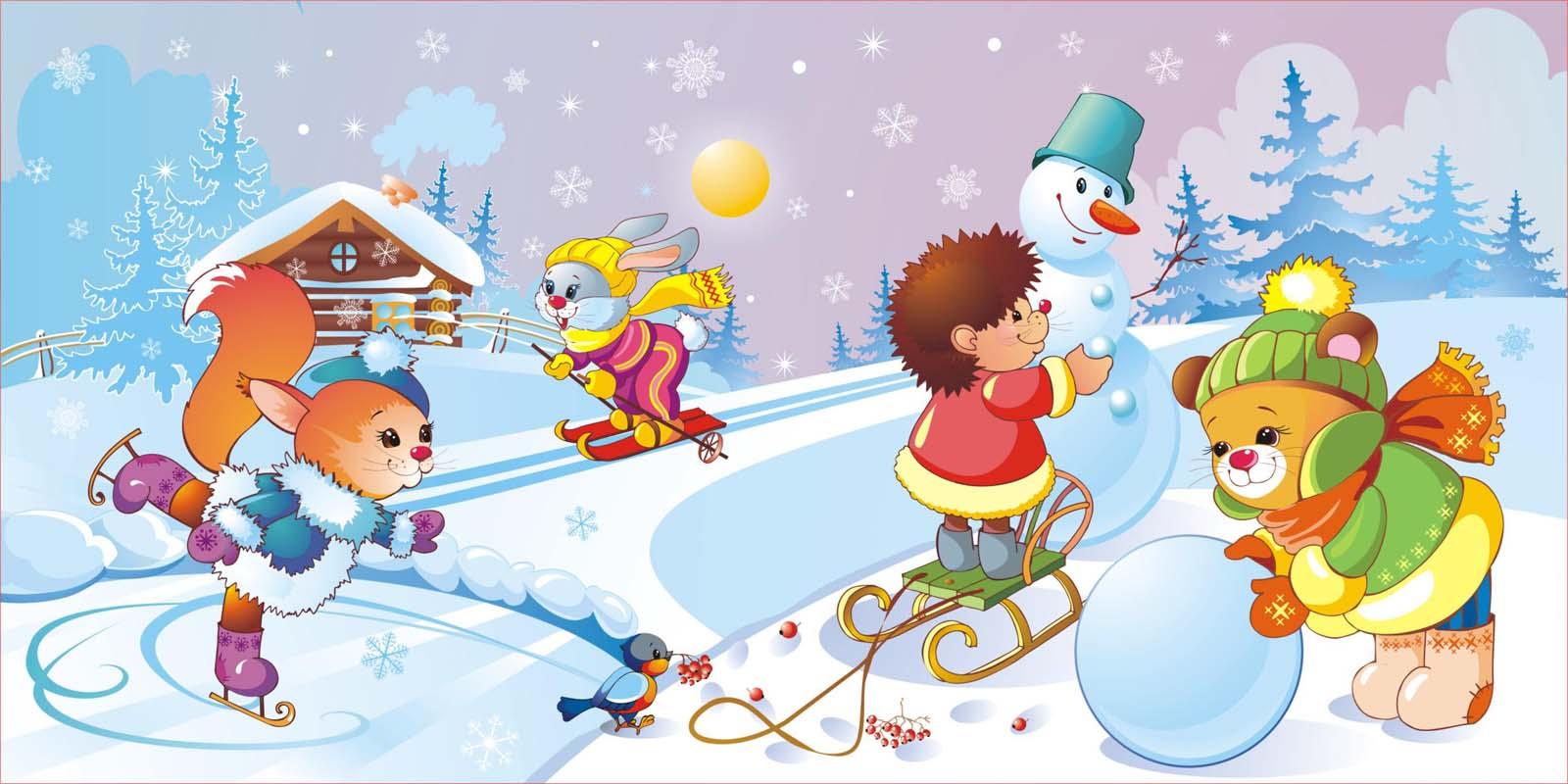 Рисунок на зимнюю тематику для детского сада, дню российской гвардии