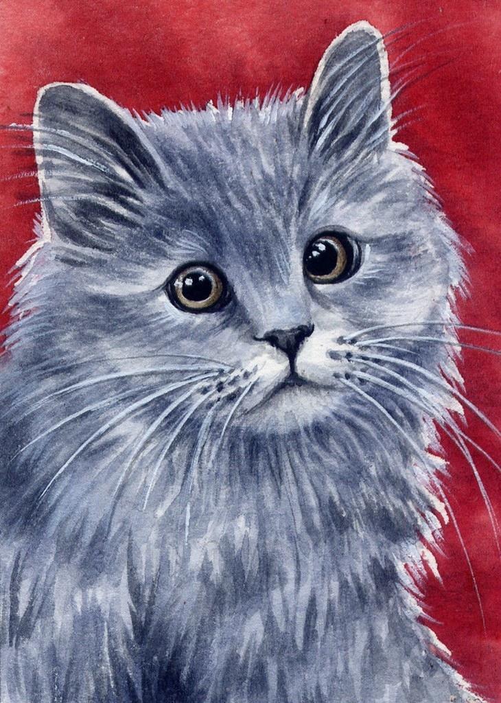 кошки акварелью картинки американская художница кот