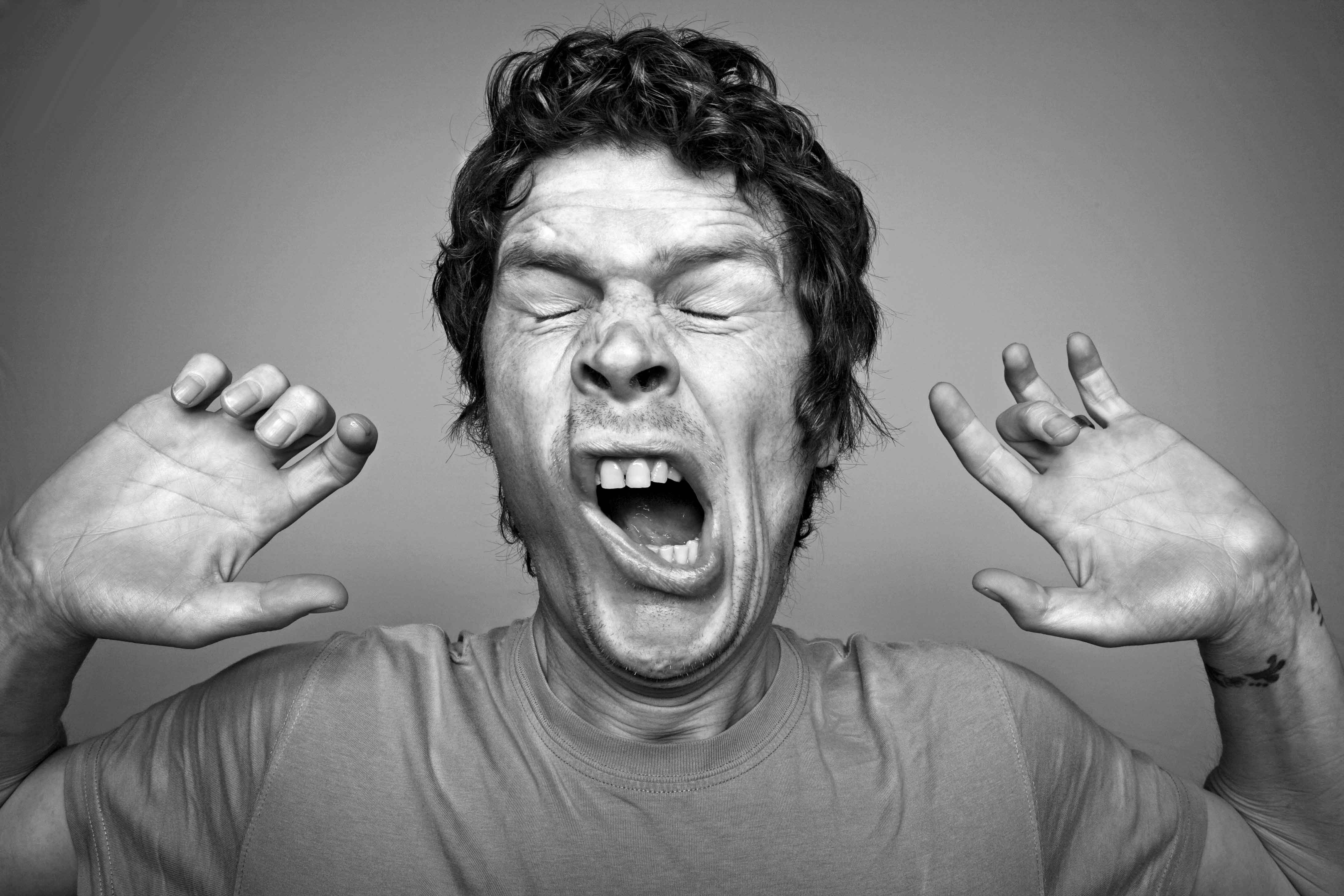 приборы, фото зевающих людей первый