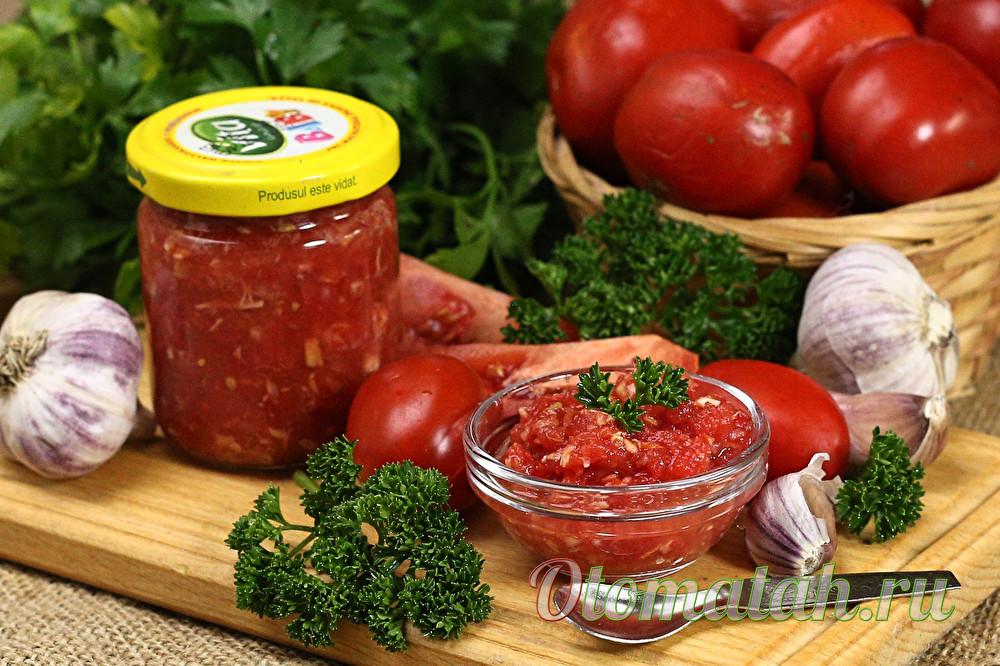 Горлодер из зеленых помидор с чесноком вкусный рецепт на зиму