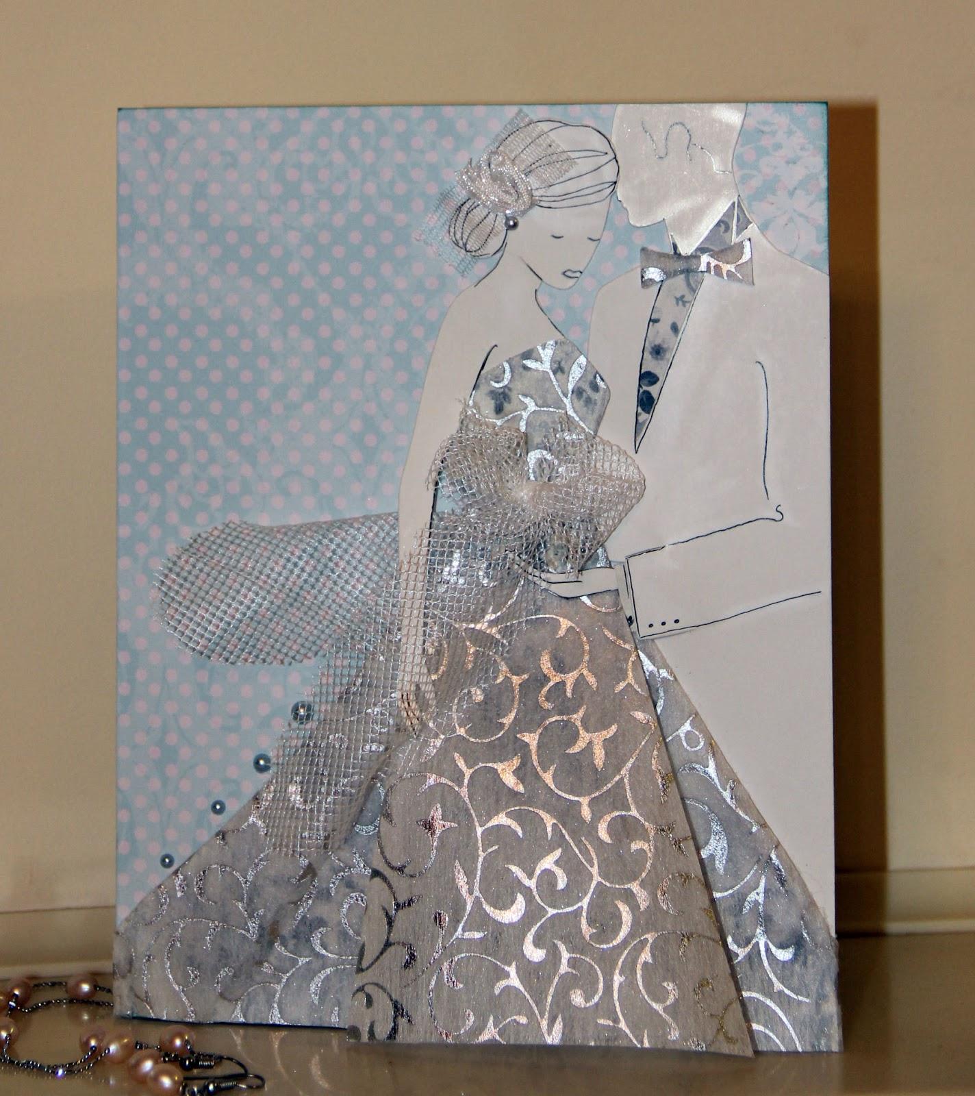 Вов, платье из ткани на открытку