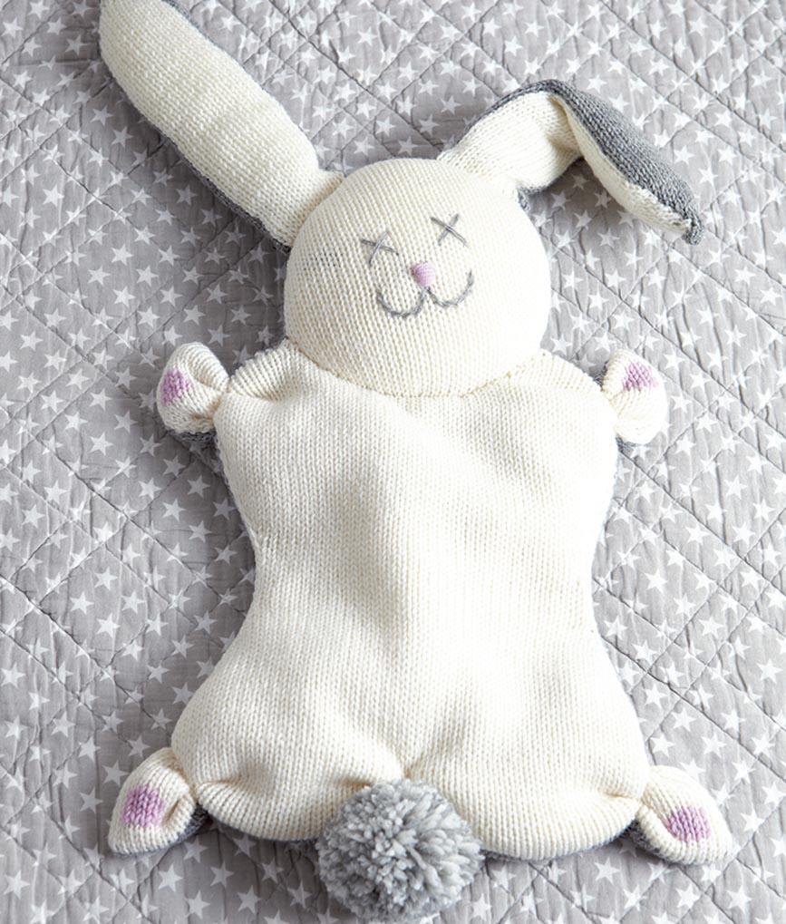 игрушка подушка зайчик схема вязания спицами амигуруми и