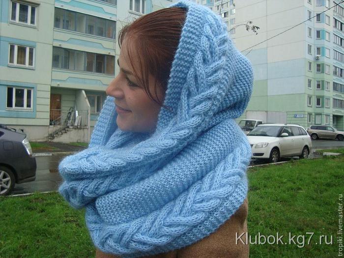 b1ad75886381 Красивый теплый снуд спицами | шарфы | Постила