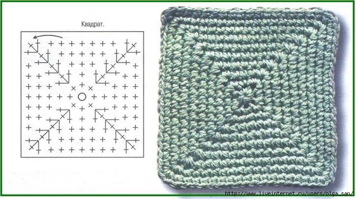 как связать квадрат и прямоугольник крючком уроки вязания крючком
