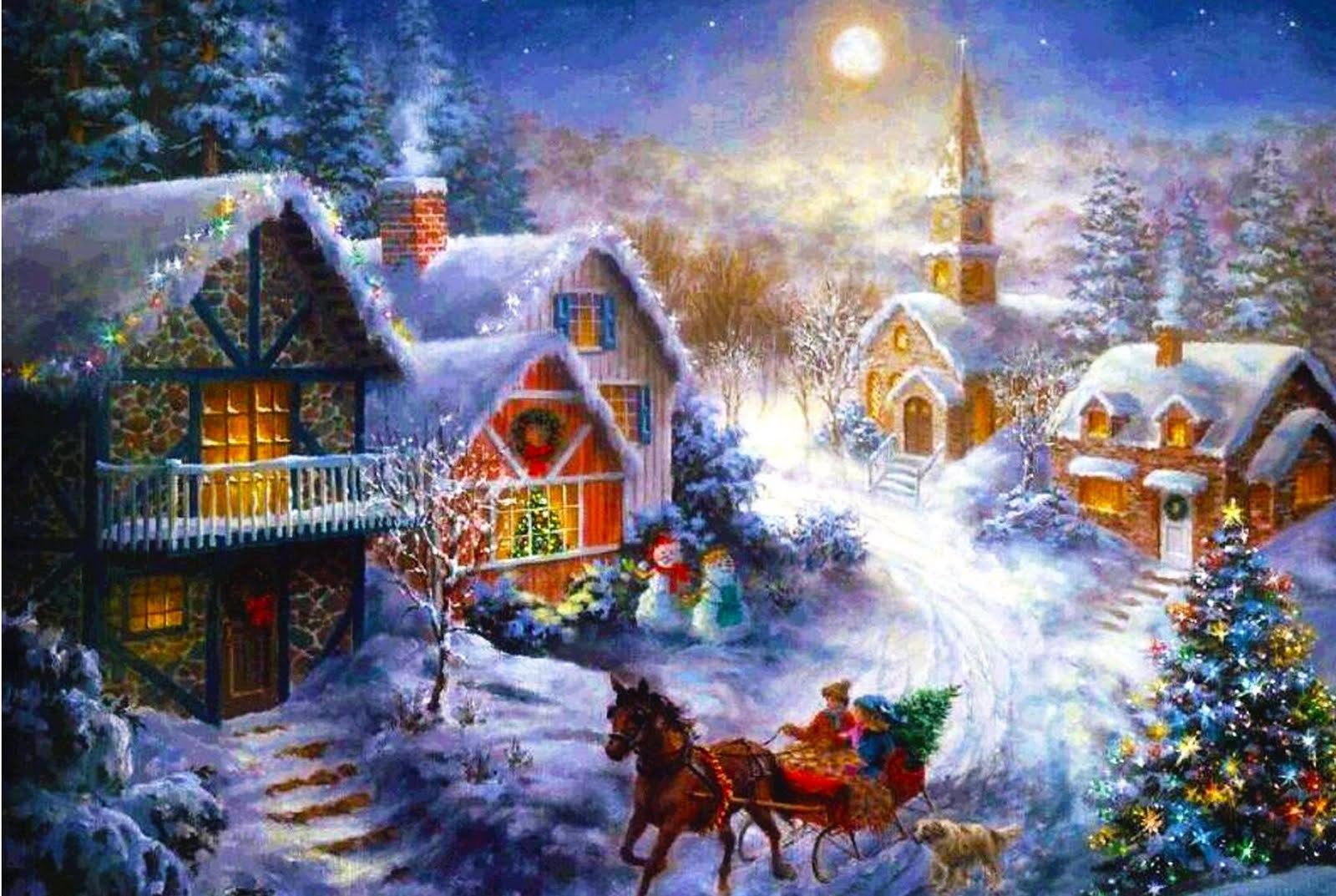 Открытка рождественская картинки, днем рождения