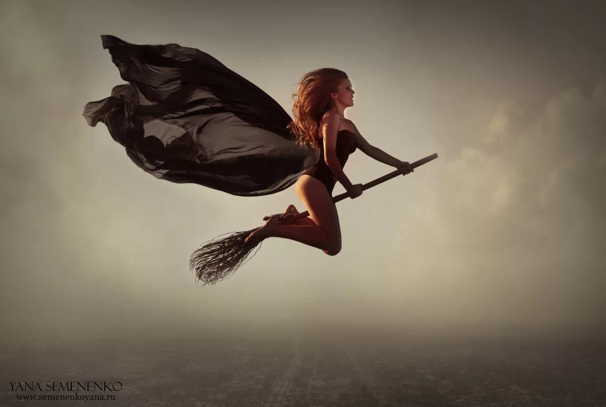 фотки ведьмы на метле динамический