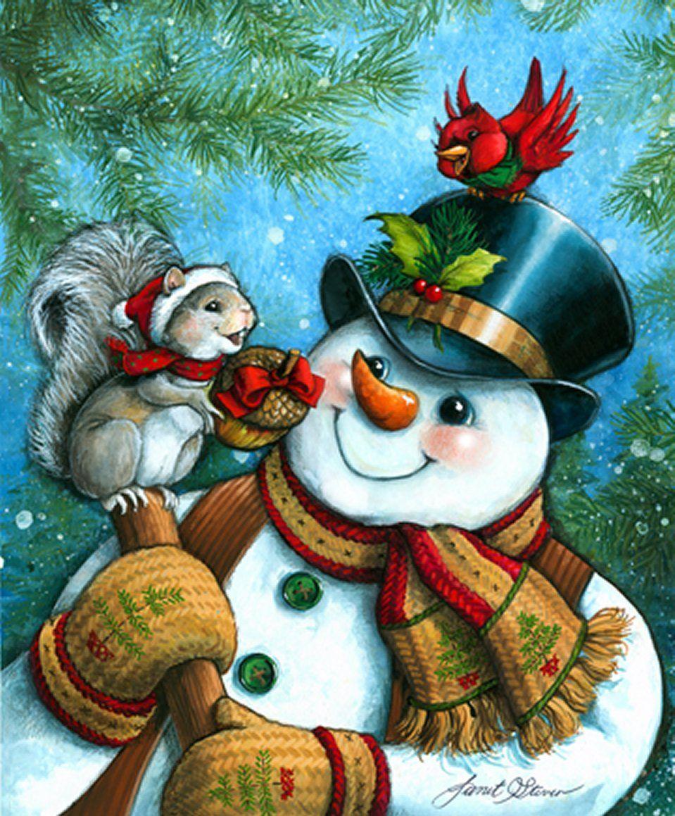 Открытка снеговик картинки