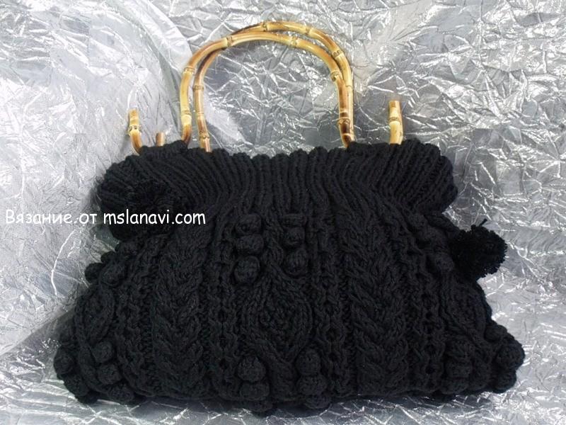 fa3854e1458e Вязаные сумки спицами   Вяжем с Лана Ви   Стильные сумочки   Постила