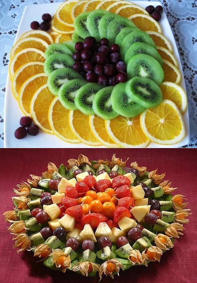 как красиво поставить фрукты на стол фото чем