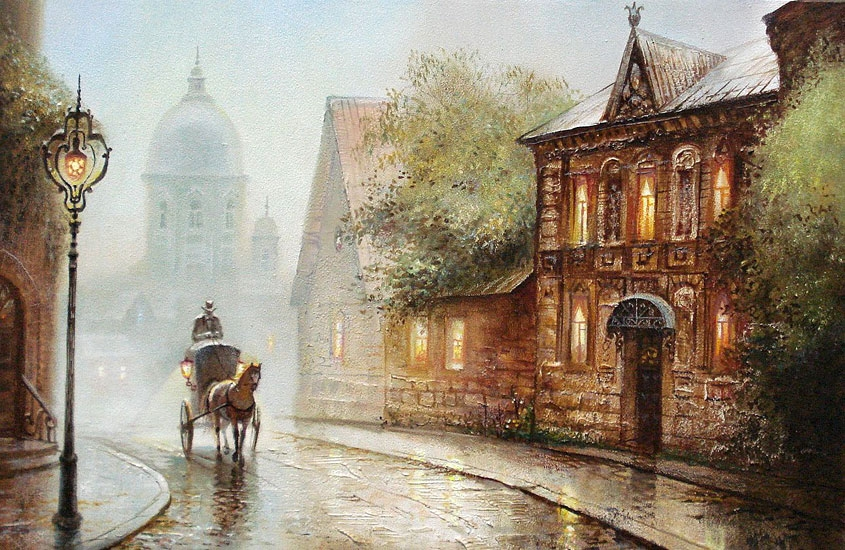 Винтажные картинки города