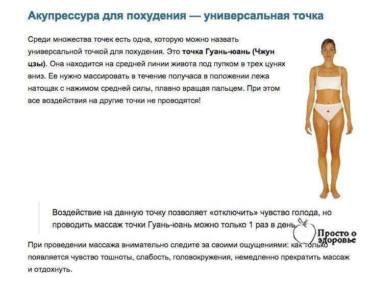 Точка На Руке Похудеть. 5 волшебных точек массажа для похудения