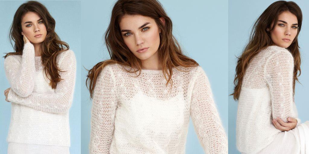 пуловер из тонкого мохера Silent женский пуловер из тонкого мохера
