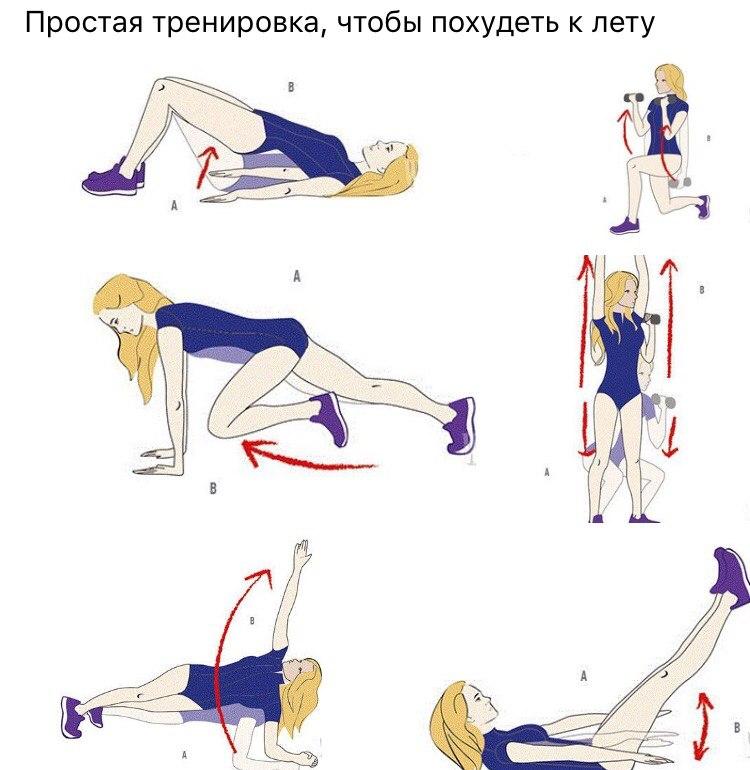 Делая упражнения можно похудеть