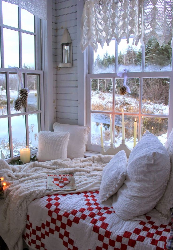 красивые зимние картинки домашнего уюта собрал яркие