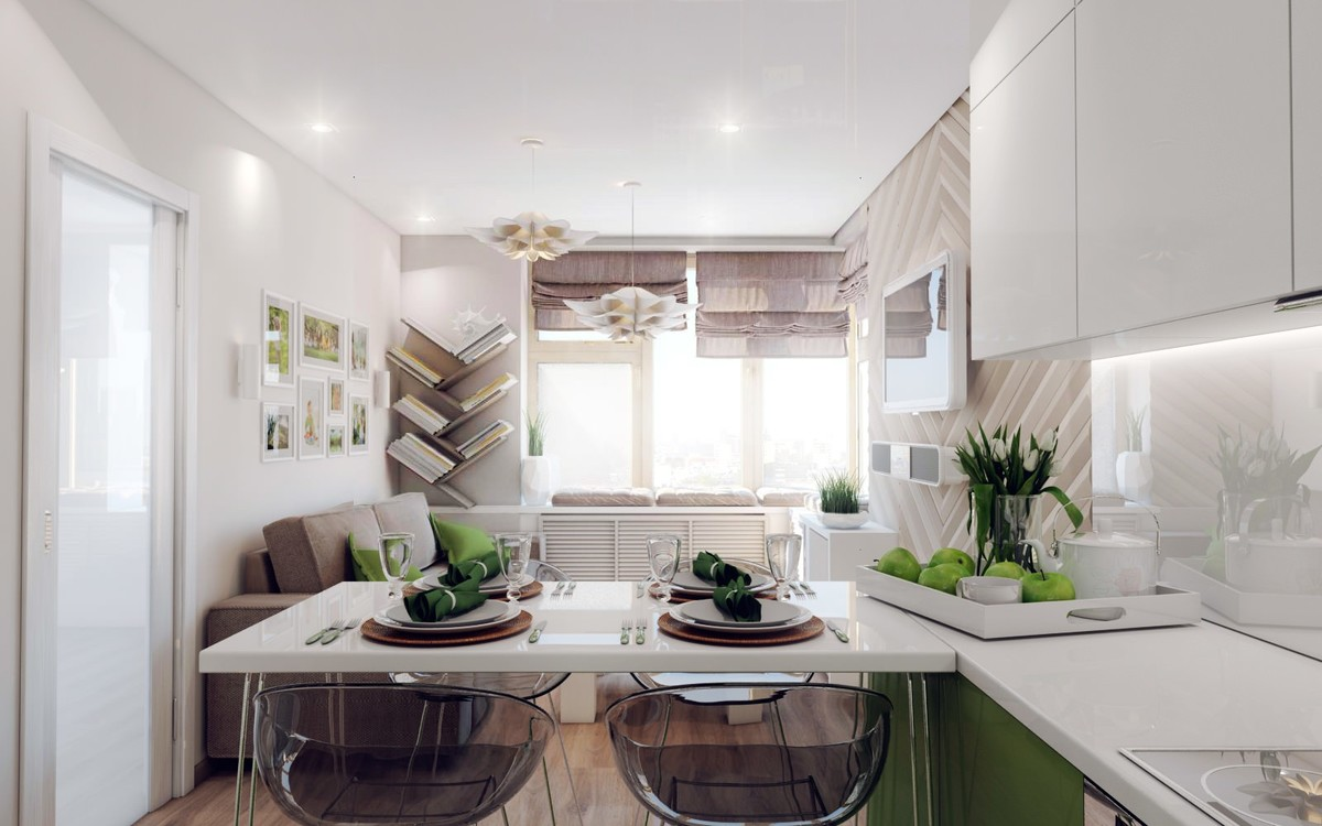 примеры кухни студии с барной стойкой роскошь и уют дизайн кухни